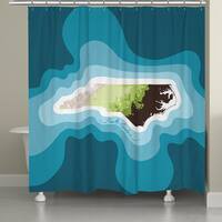 Laural Home North Carolina Topographic Abstract Map Shower Curtain 71x74