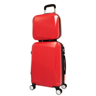 World Traveler Diamond 2-Piece Carry-on Spinner Luggage Set