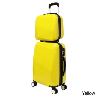 World Traveler Diamond 2-Piece Carry-on Spinner Luggage Set (5 options available)