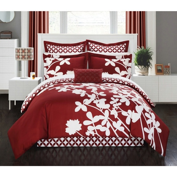 Copper Grove Pando Red Reversible 7-piece Comforter Set