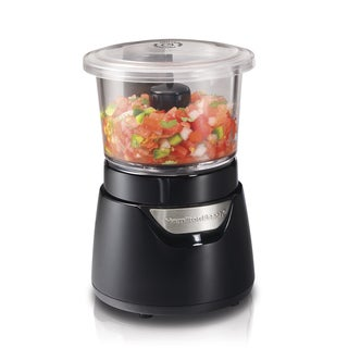 Link to Hamilton Beach Black Stack & Press 3-Cup Glass Bowl Chopper Similar Items in Kitchen Appliances