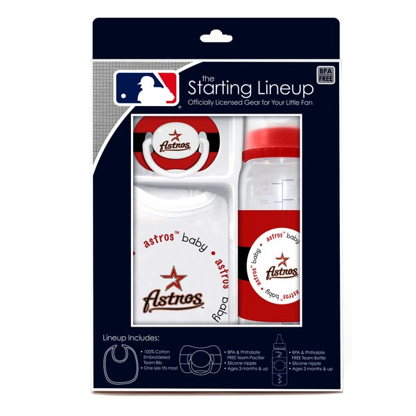 Baby Fanatic MLB Houston Astros 3-piece Baby Gift Set