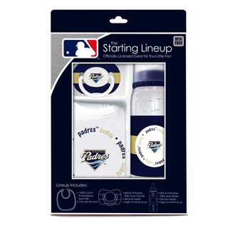 Baby Fanatic MLB San Diego Padres 3-piece Baby Gift Set
