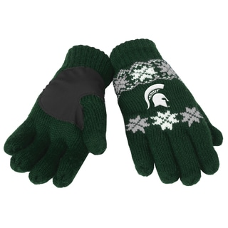 Forever Collectibles Michigan State Spartans Lodge Gloves with Padded Palms