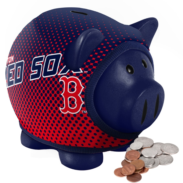 Forever Collectibles Boston Red Sox Ugly Sweater Piggy Bank