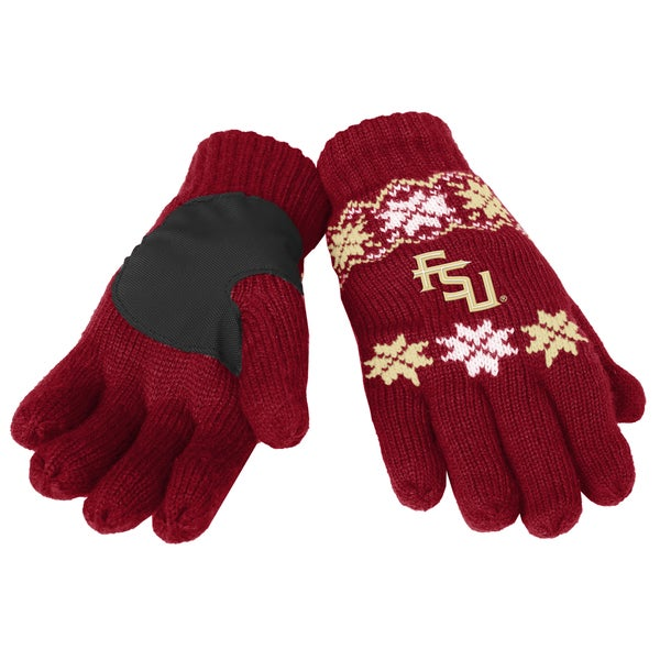 Forever Collectibles Florida State Seminoles Lodge Gloves with Padded Palms