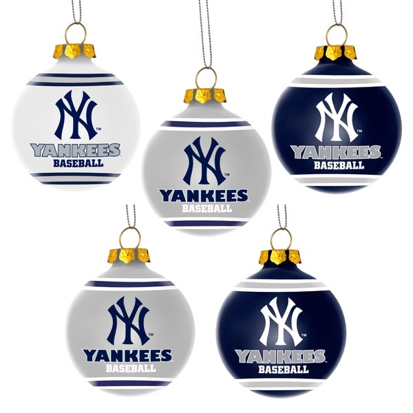 Forever Collectibles New York Yankees Shatterproof Ball Ornament Set
