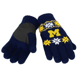 Forever Collectibles Michigan Wolverines Lodge Gloves with Padded Palms