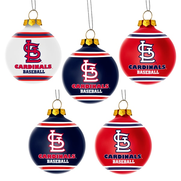 Forever Collectibles St. Louis Cardinals Shatterproof Ball Ornament Set