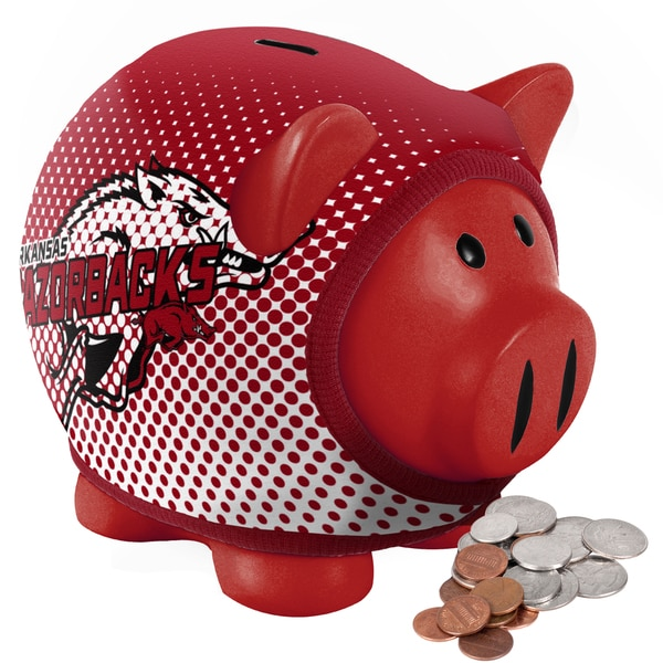 Forever Collectibles Arkansas Razorbacks Ugly Sweater Piggy Bank