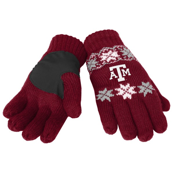 Forever Collectibles Texas AM Aggies Lodge Gloves with Padded Palms