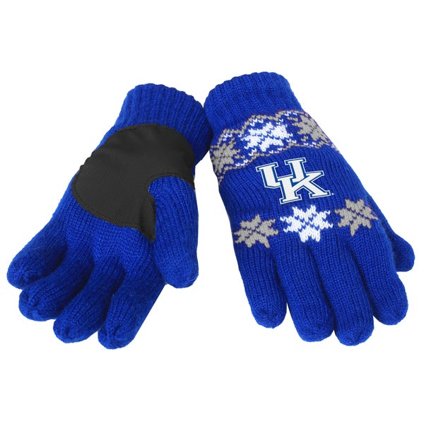 Forever Collectibles Kentucky Wildcats Lodge Gloves with Padded Palms