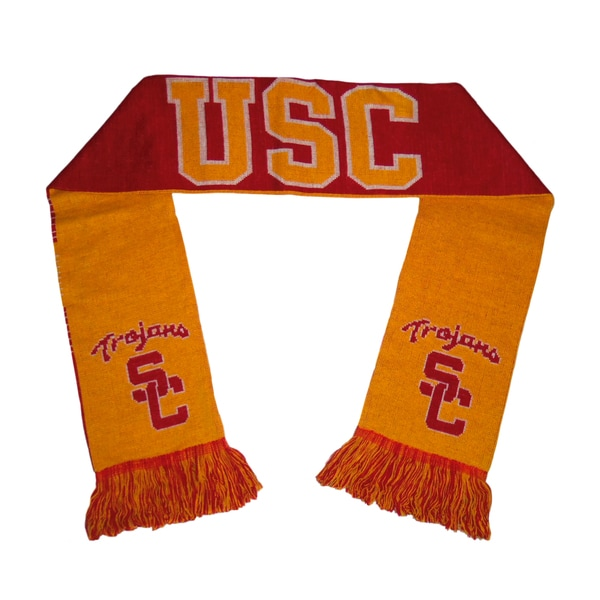 Forever Collectibles USC Trojans Split Logo Reversible Scarf