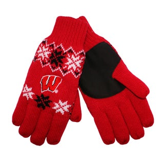 Forever Collectibles Wisconsin Badgers Lodge Gloves with Padded Palms