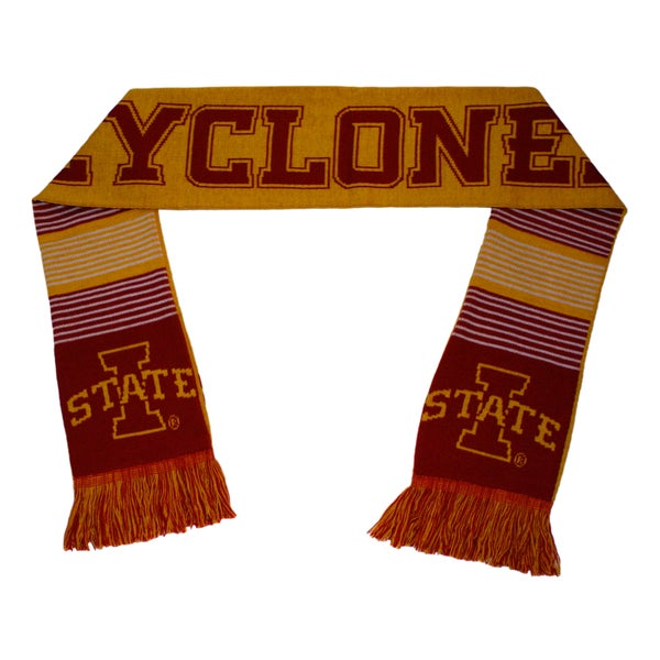 Forever Collectibles Iowa State Cyclones Split Logo Reversible Scarf