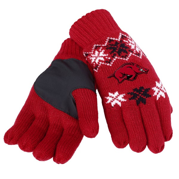 Forever Collectibles Arkansas Razorbacks Lodge Gloves with Padded Palms