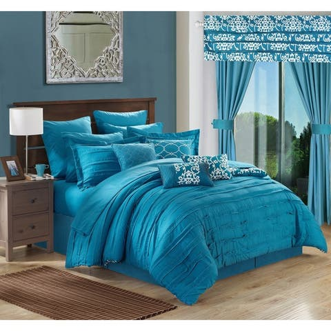 Copper Grove Josie Teal 24-piece Bed in a Bag with Sheet Set