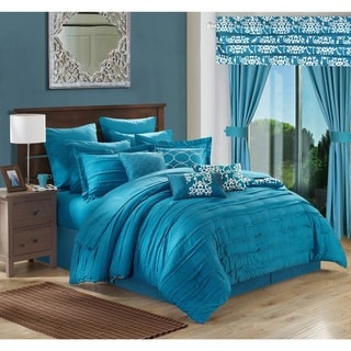 Chic Home Olivier Teal 24-piece Bed in a Bag with Sheet Set