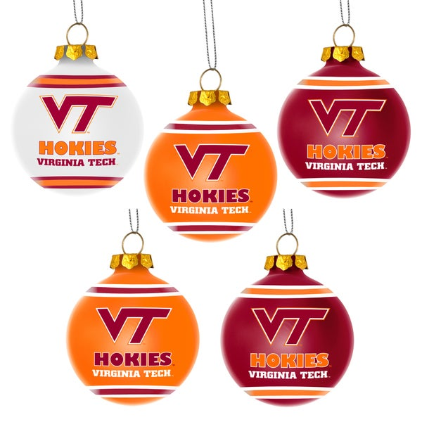 Forever Collectibles Virginia Tech Hokies Shatterproof Ball Ornament Set