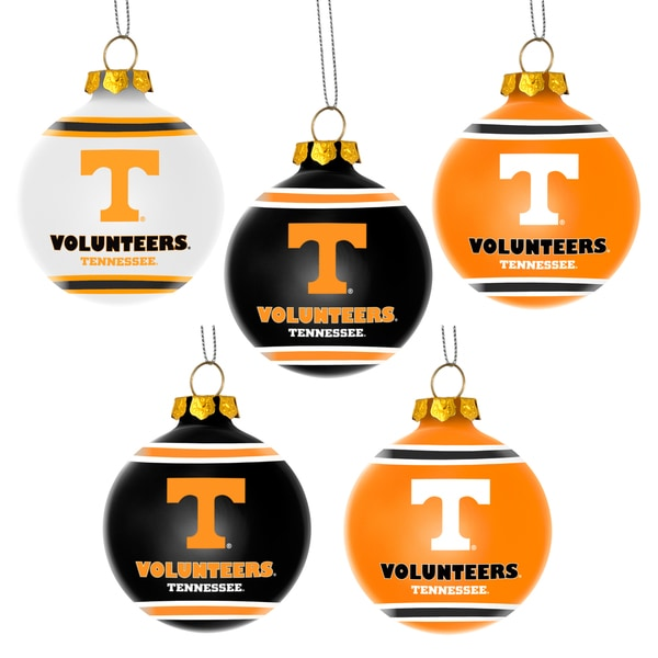 Forever Collectibles Tennessee Volunteers Shatterproof Ball Ornament Set