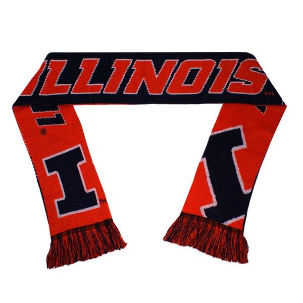 Forever Collectibles Illinois Fighting Illini Split Logo Reversible Scarf