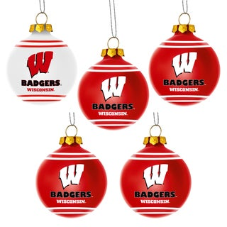Forever Collectibles Wisconsin Badgers Shatterproof Ball Ornament Set