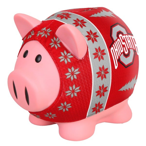 Forever Collectibles Ohio State Buckeyes Ugly Sweater Piggy Bank