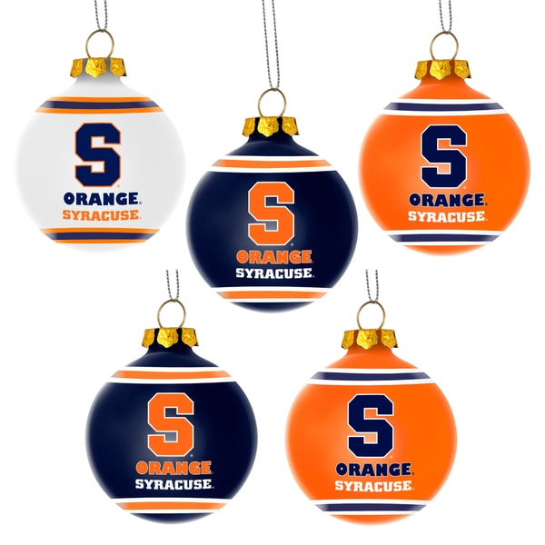 Forever Collectibles Syracuse Orange Shatterproof Ball Ornament Set