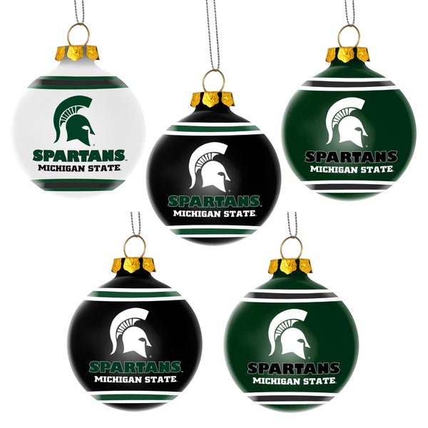 Forever Collectibles Michigan State Spartans Shatterproof Ball Ornament Set
