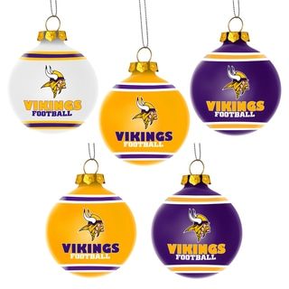 Forever Collectibles Minnesota Vikings Shatterproof Ball Ornament Set
