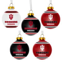 Forever Collectibles Indiana Hoosiers Shatterproof Ball Ornament Set