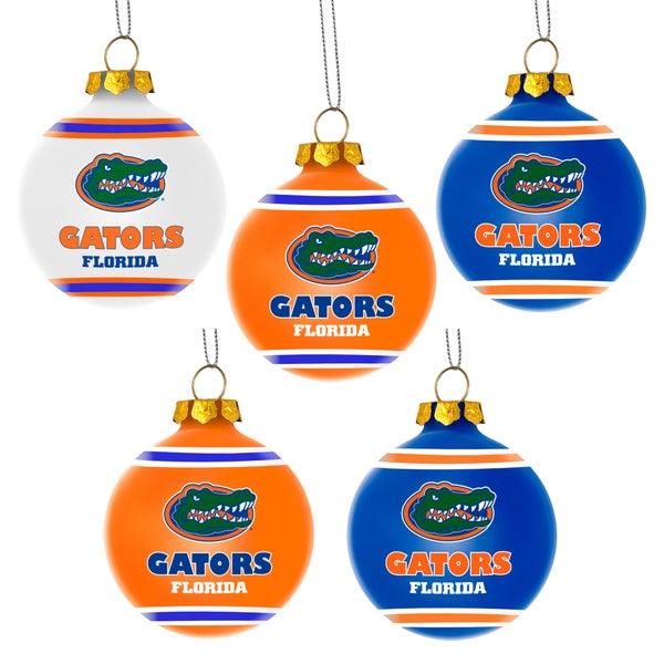Forever Collectibles Florida Gators Shatterproof Ball Ornament Set