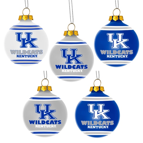 Forever Collectibles Kentucky Wildcats Shatterproof Ball Ornament Set