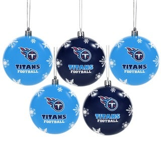 Forever Collectibles Tennessee Titans Shatterproof Ball Ornament Set