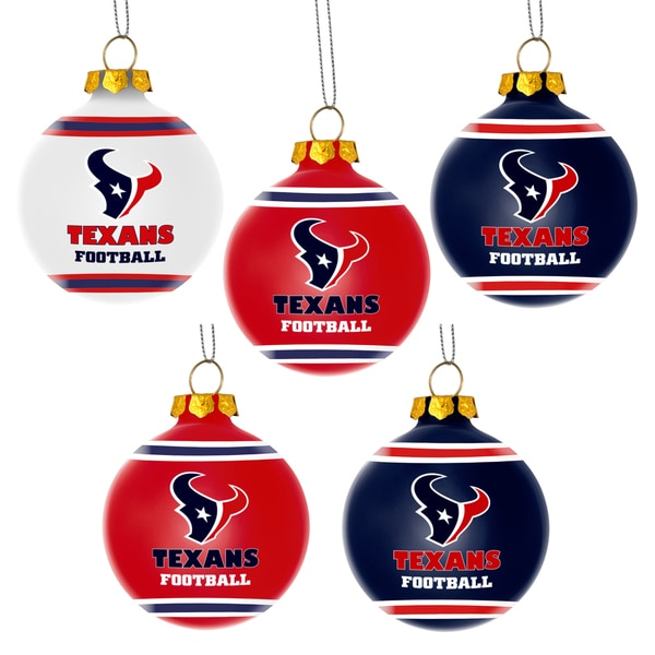Forever Collectibles Houston Texans Shatterproof Ball Ornament Set