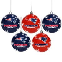 Forever Collectibles New England Patriots Shatterproof Ball Ornament Set