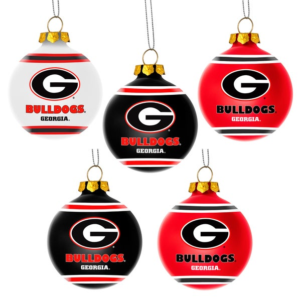 Forever Collectibles Georgia Bulldogs Shatterproof Ball Ornament Set