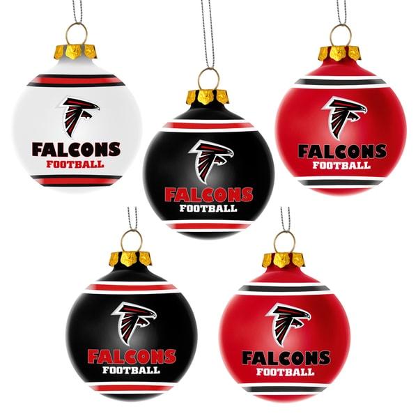 Forever Collectibles Atlanta Falcons Shatterproof Ball Ornament Set
