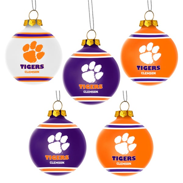 Forever Collectibles Clemson Tigers Shatterproof Ball Ornament Set