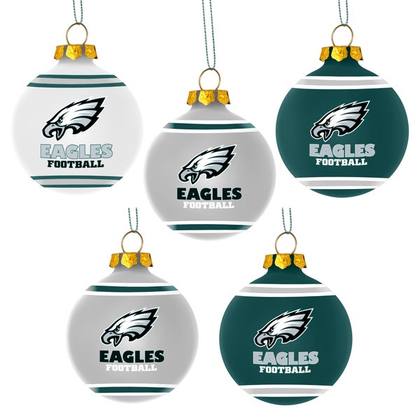 Forever Collectibles Philadelphia Eagles Shatterproof Ball Ornament Set