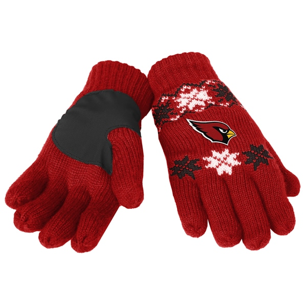 Forever Collectibles Arizona Cardinals Lodge Gloves with Padded Palms