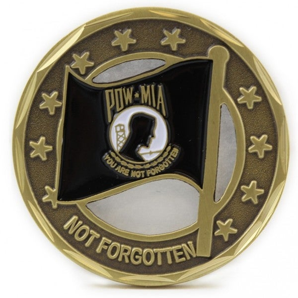 POW MIA Flag Coin