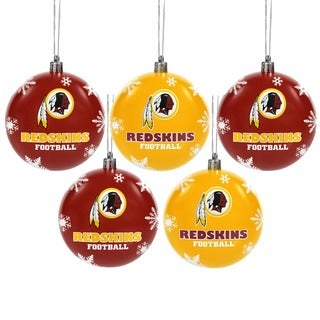 Forever Collectibles Washington Redskins Shatterproof Ball Ornament Set