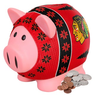 Forever Collectibles Chicago Blackhawks Ugly Sweater Piggy Bank