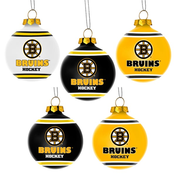 Forever Collectibles Boston Bruins Shatterproof Ball Ornament Set
