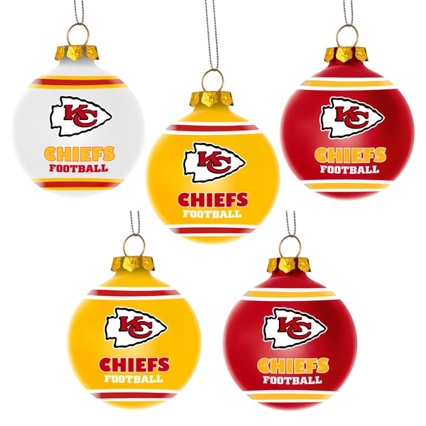 Forever Collectibles Kansas City Chiefs Shatterproof Ball Ornament Set