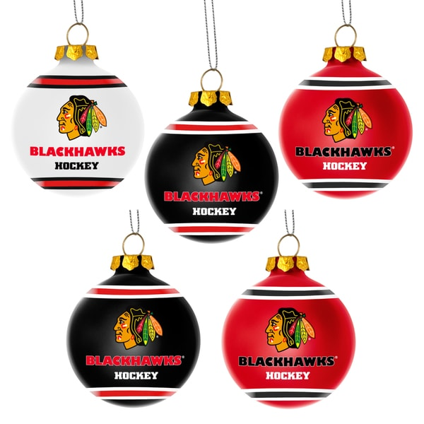 Forever Collectibles Chicago Blackhawks Shatterproof Ball Ornament Set