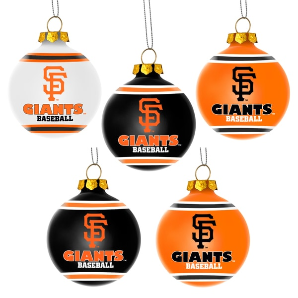 Forever Collectibles San Francisco Giants Shatterproof Ball Ornament Set