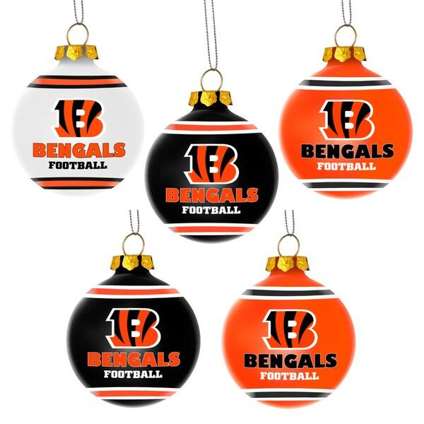 Forever Collectibles Cincinnati Bengals Shatterproof Ball Ornament Set
