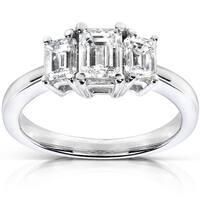 Annello by Kobelli 14k Gold 1ct TDW Diamond Three-stone Ring